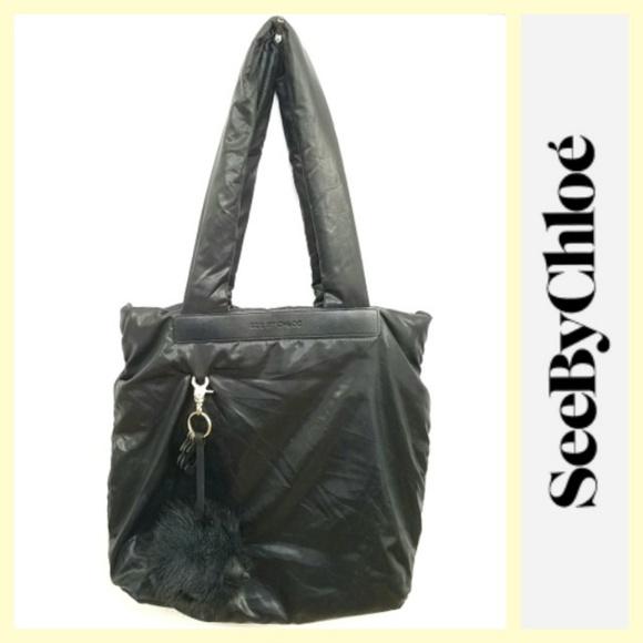 85a6132b0b9a6 See By Chloe Bags | Joyrider Black Nylon Charm Tote Bag | Poshmark